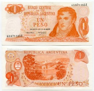 Argentyna 1 Peso 1974 r. UNC