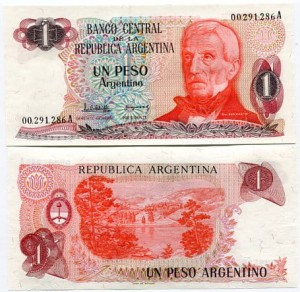 Argentyna 1 Peso 1984 r. UNC